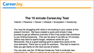 Free 15-Minute Career Test