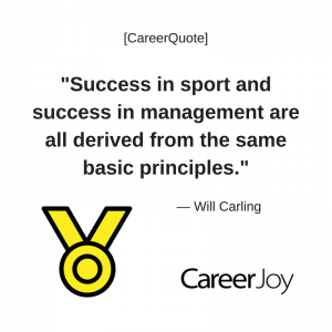 Success in sport and success in management are derived from the same basic principles.